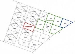 Położenie działek w Mochach na mapce sytuacyjnej