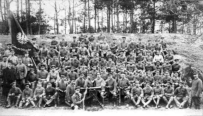 Kompania Przemęcka - zdjęcie historyczne z 1919 roku.