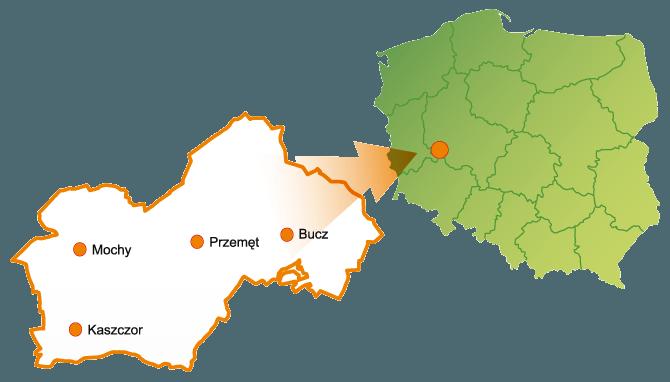 Położenie Gminy Przemęt na mapie Polski