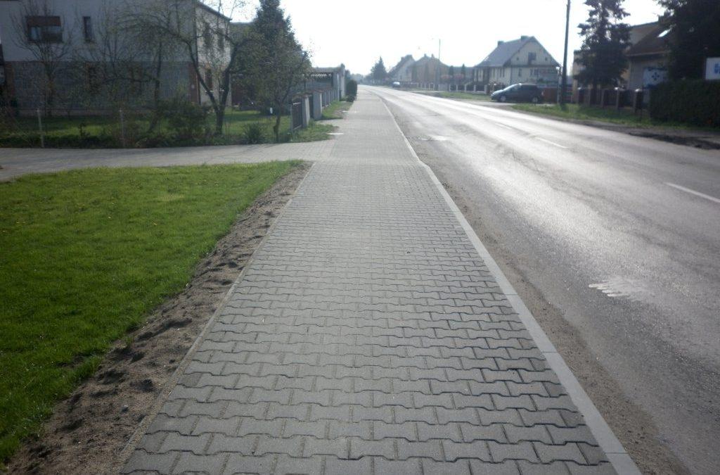Zakończono  przebudowę ścieżki pieszo-rowerowej na ul. Powstańców Wielkopolskich w Przemęcie