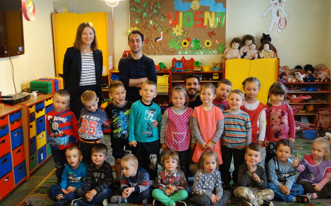 Niezwykli goście w przedszkolu w Siekowie i w szkole w Kluczewie