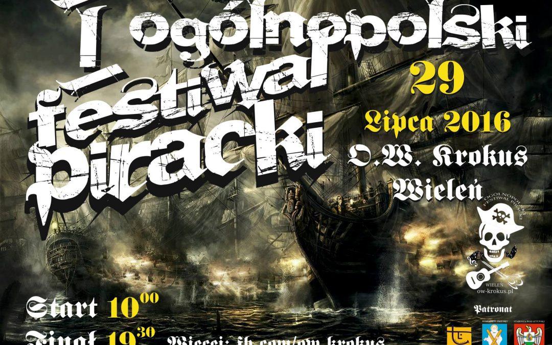 Zapraszamy na I Ogólnopolski Festiwal Piracki w Krokusie
