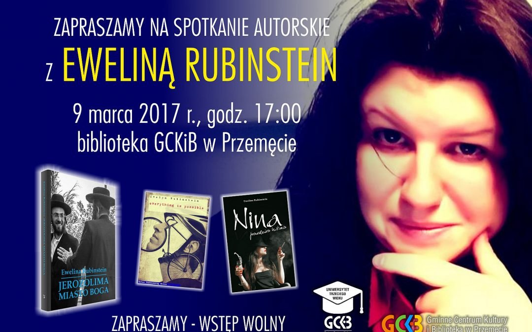 Zapraszamy na spotkanie autorskie z Ewelina Rubinstein