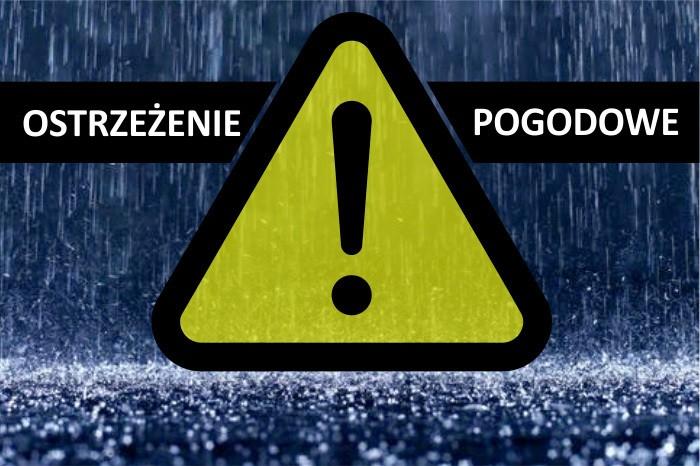Ostrzeżenie meteorologiczne – intensywne opady deszczu