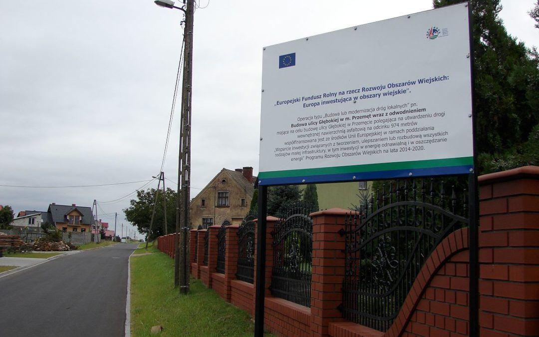 Zakończono przebudowę drogi w Przemęcie na ul. Głębokiej