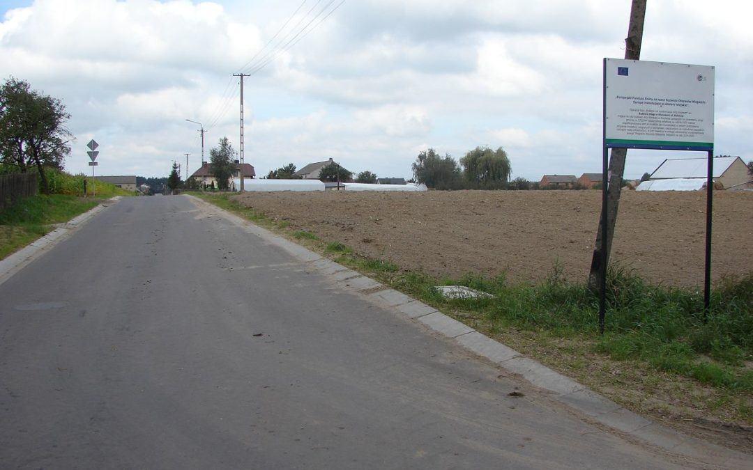 Zakończono przebudowę drogi w Kluczewie na ul. Rolniczej