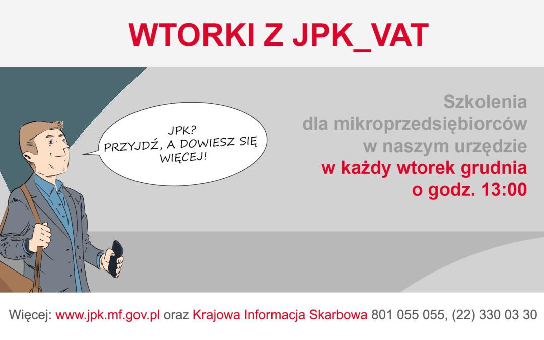 Wtorki z JPK_VAT również w grudniu