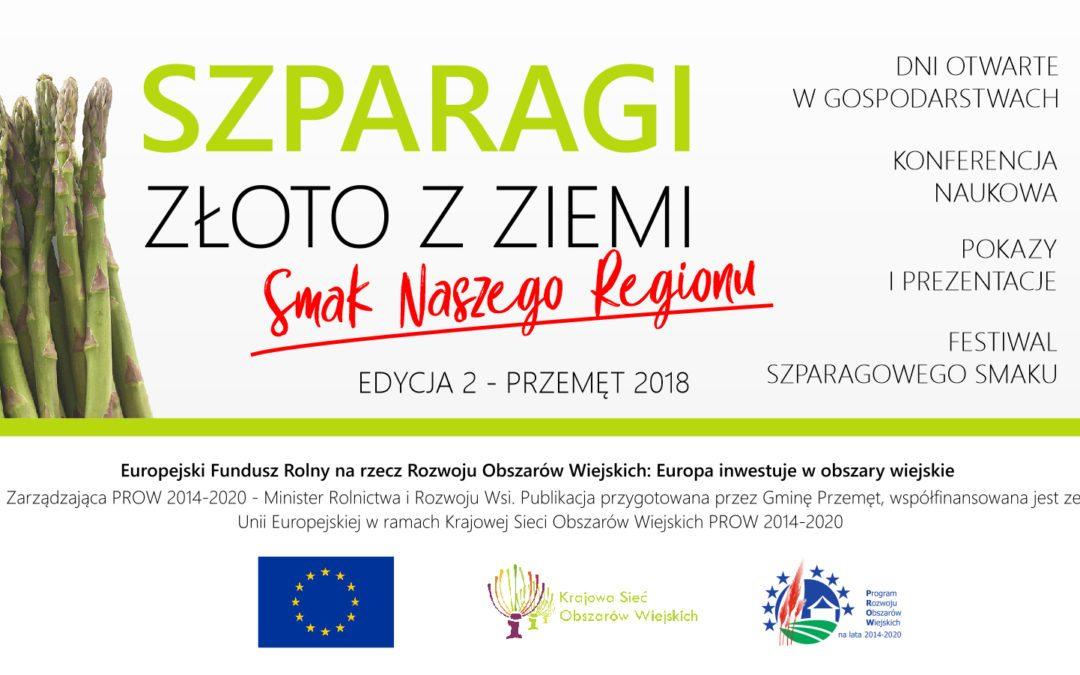 SZPARAGI ZŁOTO Z ZIEMI dofinansowane z Urzędu Marszałkowskiego w Poznaniu