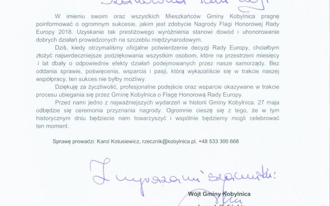 Gratulujemy partnerom z Kobylnicy