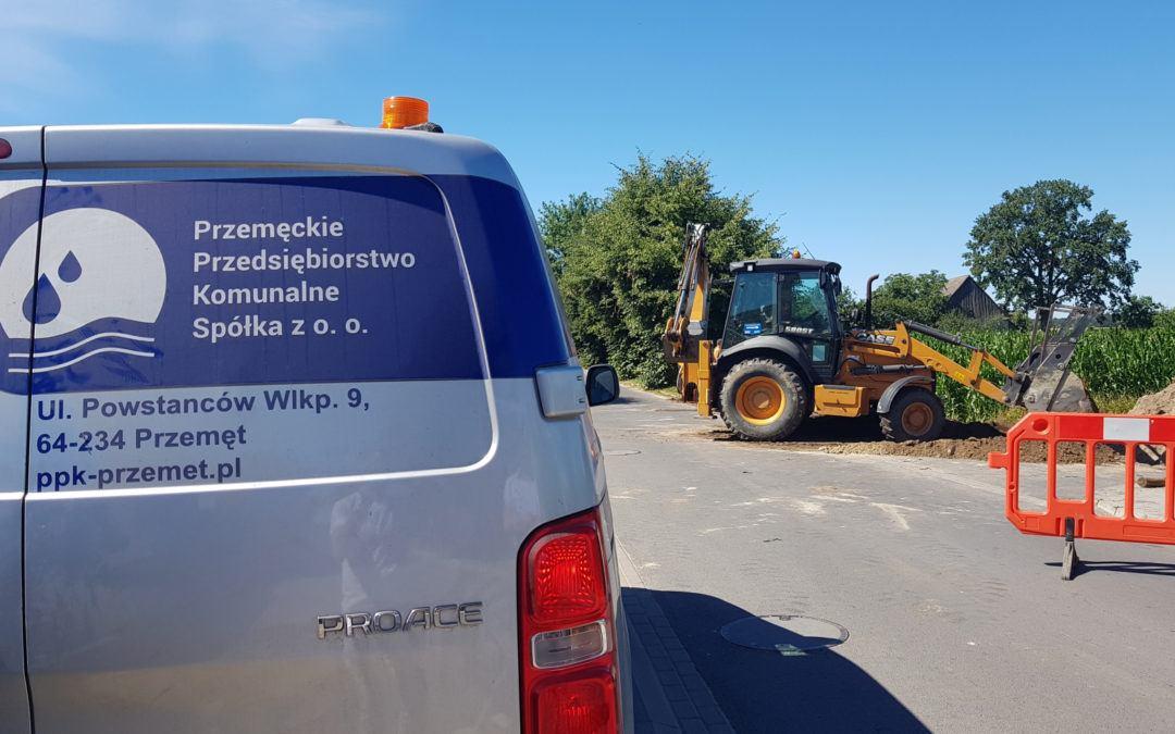 Trwa budowa nitki kanalizacyjnej Perkowo-Wieleń