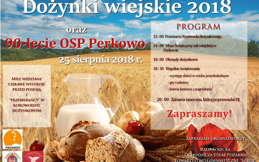 Dożynki wiejskie oraz 90 lecie OSP Perkowo