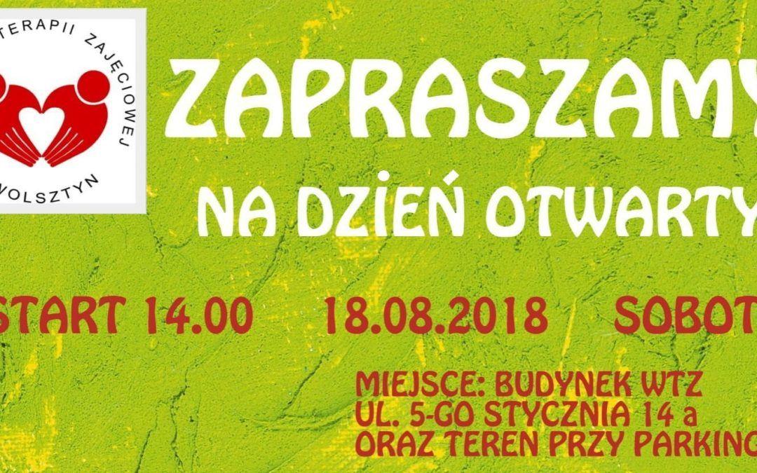 Uczestnicy i pracownicy Warsztatów Terpaii Zajęciowej w Wolsztynie zapraszają na Dzień Otwarty