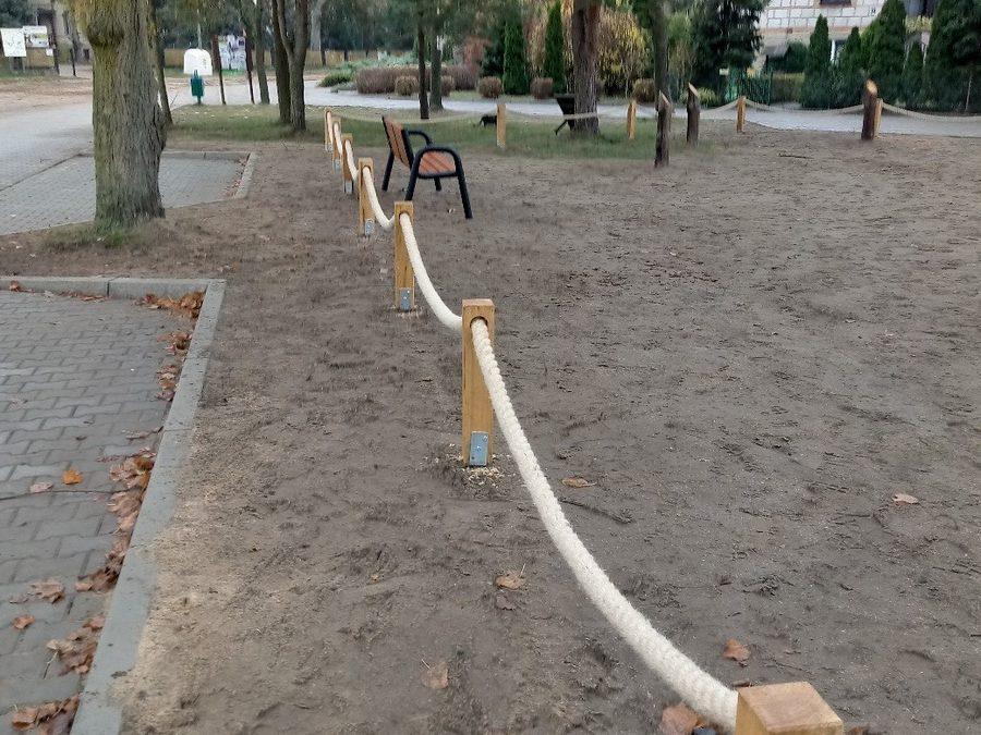 Zagospodarowanie terenu –  Placu Pielgrzyma w miejscowości Wieleń