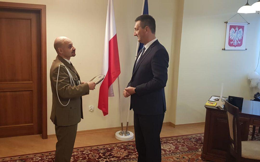 Podziękowanie Wójtowi za umacnianie obronności Rzeczypospolitej Polskiej.