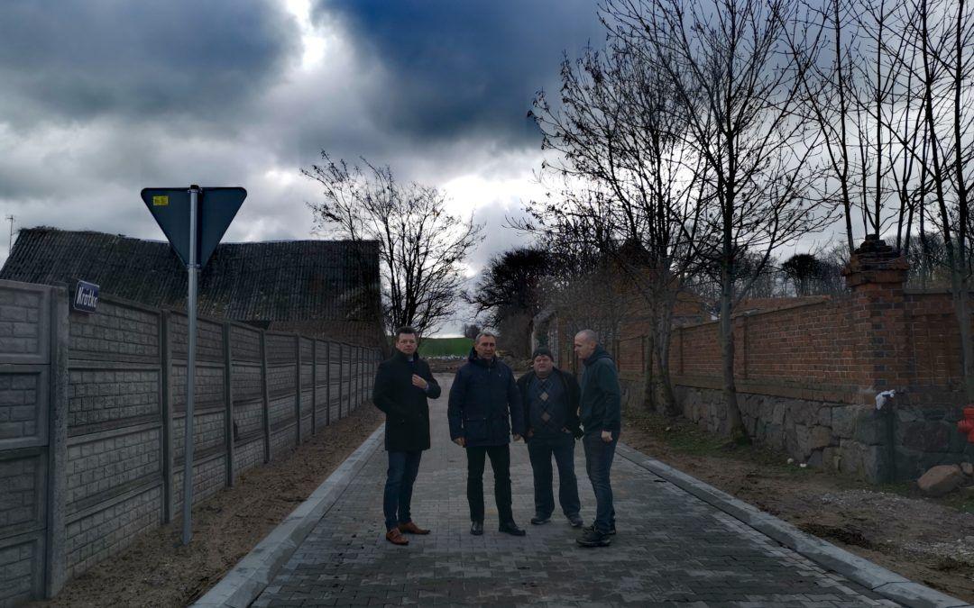 Odbiór ulicy Krótkiej w miejscowości Popowo Stare