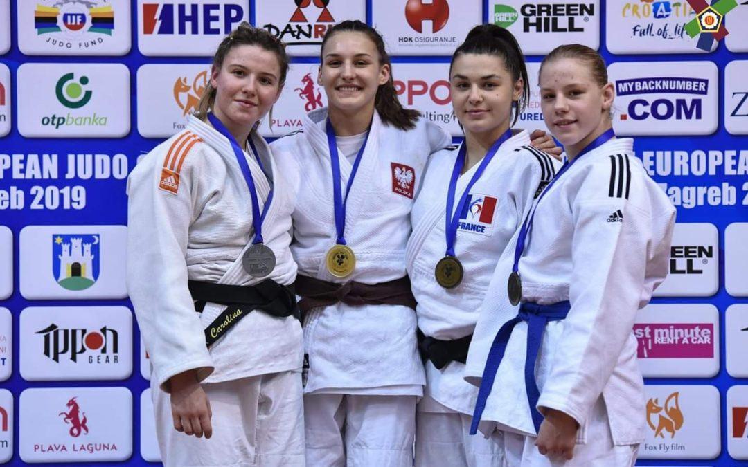 Katarzyna Sobierajska zdobywa kolejny złoty medal w judo w Zagreb w Chorwacji.