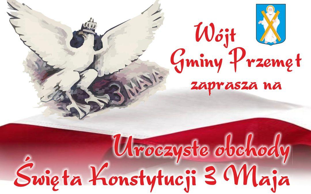 Uroczyste obchody Święta Konstytucji 3 Maja w Przemęcie