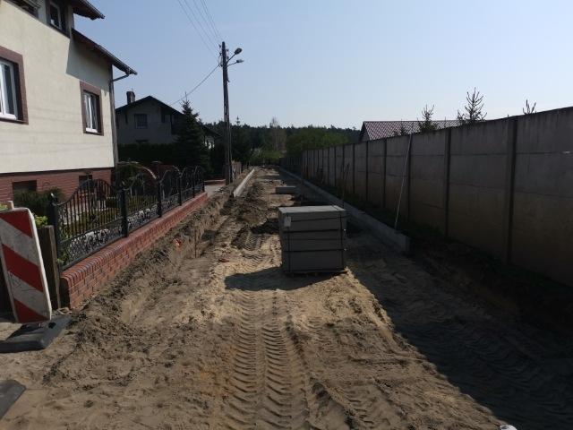 Przebudowa drogi w Mochach