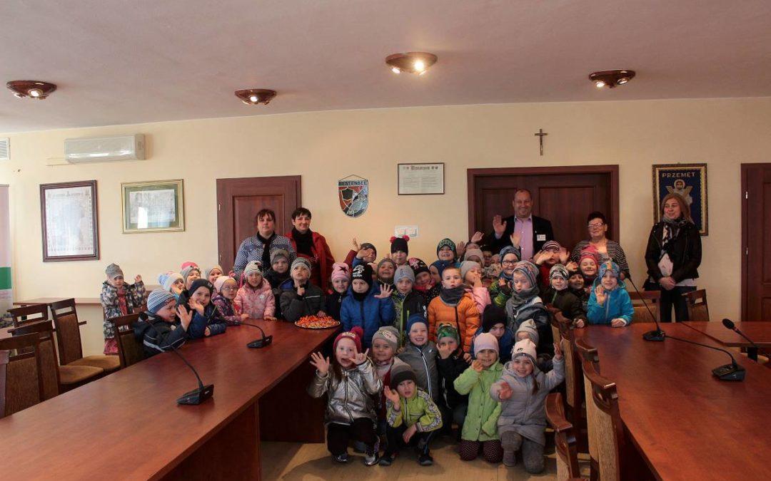 Przedszkolaki z wizytą w Urzędzie Gminy Przemęt