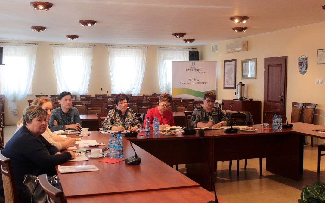 Spotkanie Wójta z Dyrektorami Szkół i Przedszkoli Gminy Przemęt