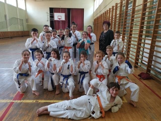 Trening karate w Kaszczorze