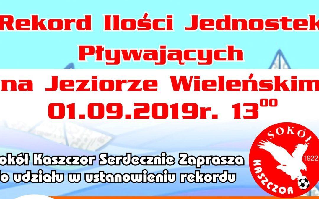 Rekord Ilości Jednostek Pływających na Jeziorze Wieleńskim
