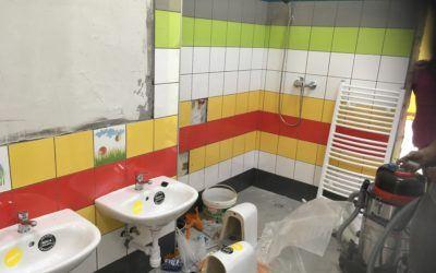 Trwają prace wykończeniowe związane z wydzieleniem dwóch oddziałów przedszkolnych w budynku szkoły w Buczu.