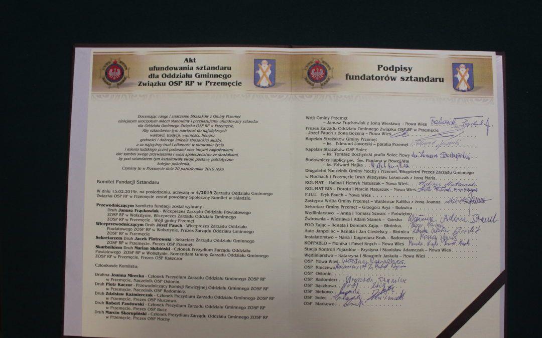 Nadanie Sztandaru Gminnemu Związkowi Ochotniczych Straży Pożarnych RP w Przemęcie