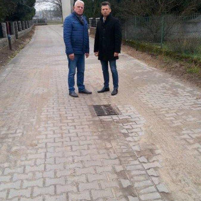 Odbiór zadania pn. Utwardzenie ulicy Okrężnej wraz z odwodnieniem w m. Kaszczor