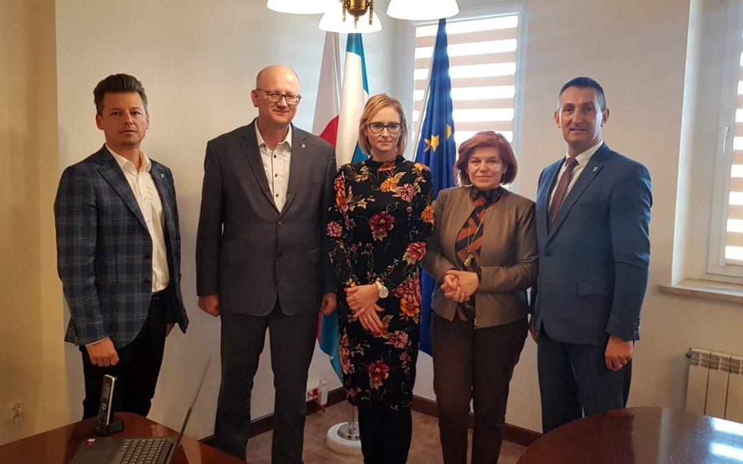 Wizyta delegacji z Gminy Jastrowie w Przemęcie