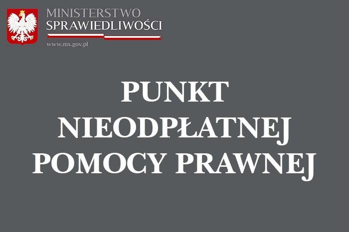 Komunikat dla osób pragnących skorzystać z nieodpłatnej pomocy prawnej, nieodpłatnego poradnictwa obywatelskiego oraz edukacji prawnej na terenie Powiatu Wolsztyńskiego.