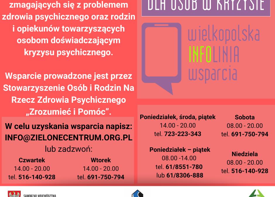 Linia wsparcia psychologicznego, informacyjnego i doradczego dla osób w kryzysie psychicznym, doświadczających przemocy i osób starszych